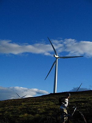 English: Wind Mills Wind Turbines. You either ...
