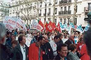 Manifestación del Primero de Mayo en París (año 2000).