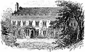 Drawing of Otsego Hall, the residence of Unite...