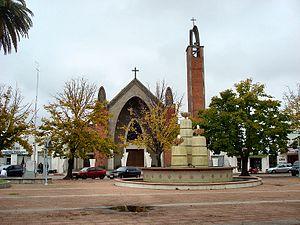 English: The Central Square of Carmelo, Coloni...