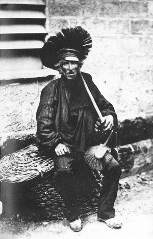 Chimney sweep in the 1850s