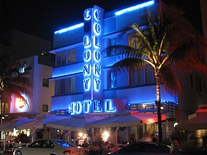 Colony Hotel - South Beach, Miami, Florida, USA.