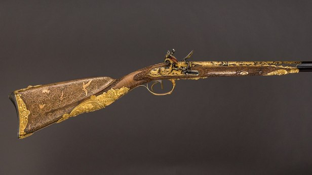 Double-Barreled Flintlock Shotgun with Exchangeable Percussion Locks and Barrels MET LC-42 50 7a n-076