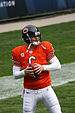 English: Jay Cutler of the Chicago Bears warmi...