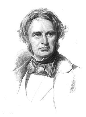 Engraving of American poet Henry Wadsworth Lon...