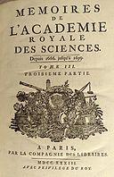 Mémoires Académie des Sciences 1733