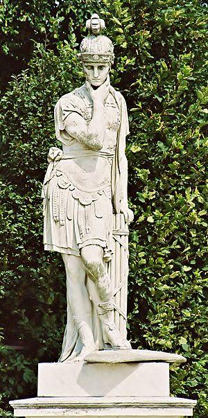 Vienna, Schönbrunn gardens, statue Fabius Cunc...