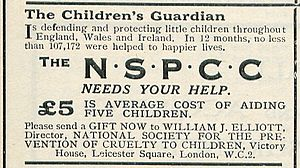 English: An appeal for funds by the NSPCC made...