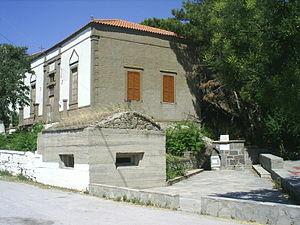Ελληνικά: Παλιό σπίτι στο Ρωμανού Λήμνου