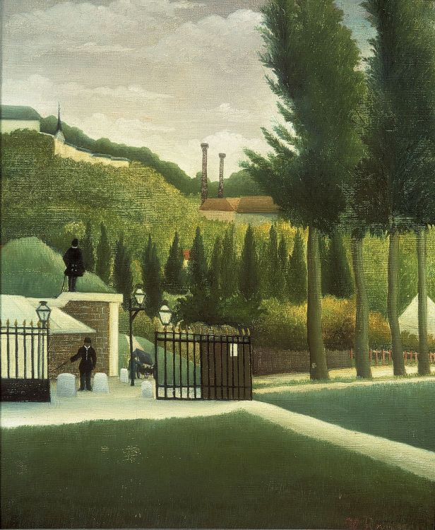 """""""The Customs Post"""" by Henri Rousseau"""