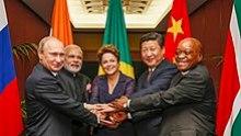 BRICS leaders at the G-20 summit in Brisbane, Australia, 15 November 2014
