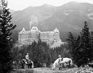 Banff Springs Hotel, October 1929, Banff Libra...