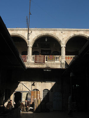 English: Caravanserai in Aleppo