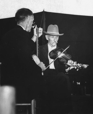 Old-time fiddlers often accompany traditional ...