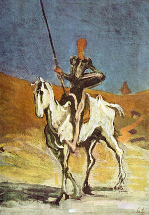 Don Quijote and Sancho Panza, drawn by Honoré ...