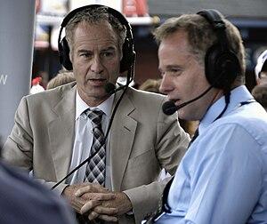 John and Patrick McEnroe at the 2009 US Open