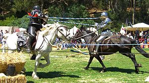 Jousting is a sport that evolved out of heavy ...