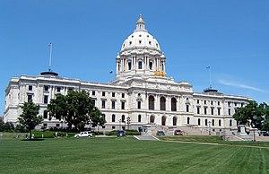 Minnesota State Capitol building in Saint Paul...