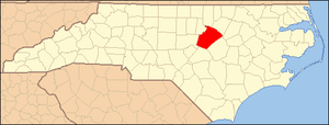 Locator Map of Wake County, North Carolina, Un...