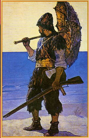 Robinson Crusoe illustration