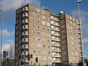 High rise flats in Seacroft, Leeds LS14