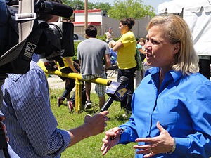Senator Mary Landrieu interviewed by WWL TV 4 ...