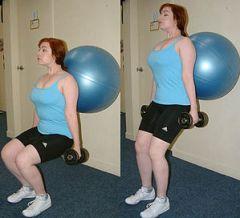 An exercise ball allows a wide range of exerci...