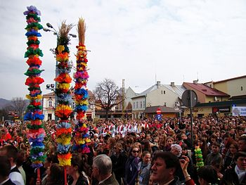 English: Palm Sunday in Sanok