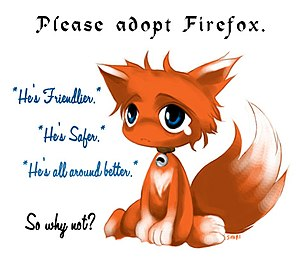 English: a cute marketing image for Mozilla Fi...