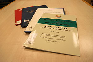 English: Annual reports of the , Singapore.