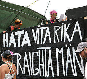 "Radical feminists poster: ""Hate White Ric..."