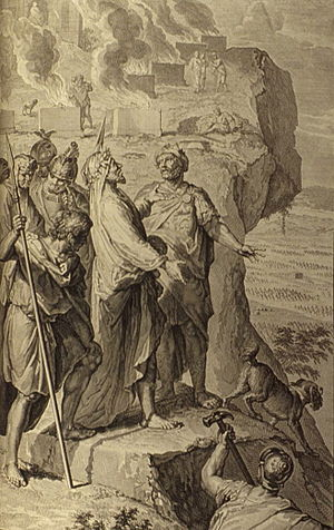 English: Balaam blessing the Israelites, as in...