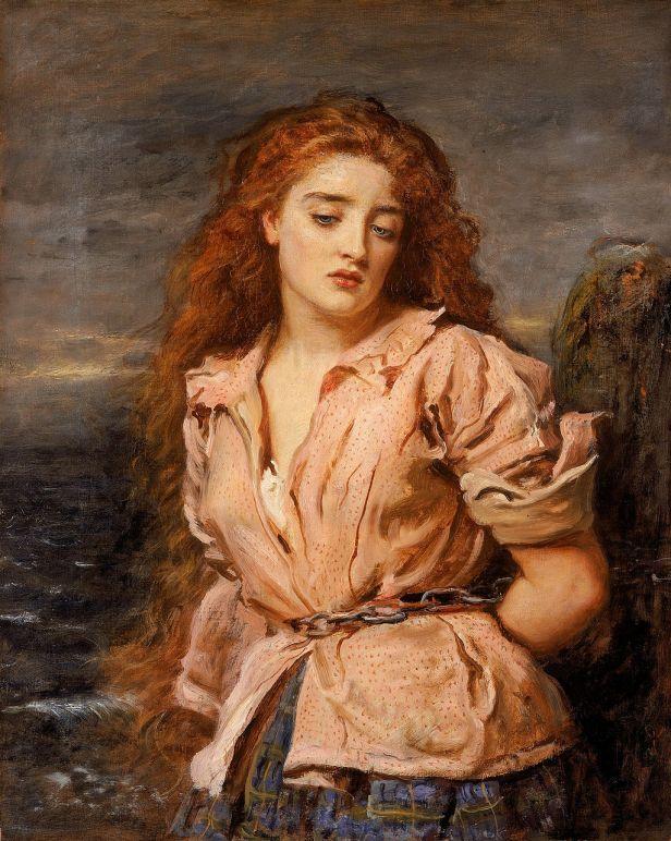 JOHN EVERETT MILLAIS - The Martyr of the Solway (Walker Art Gallery, Liverpool, c. 1871. Óleo sobre lienzo, 70.5 x 56.5 cm)