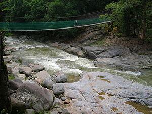 Bahasa Melayu: Jambatan ini terletak ke hilir ...