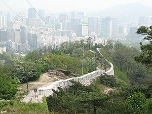 Mt. Inwangsan (인왕산) in Seoul, South Korea.