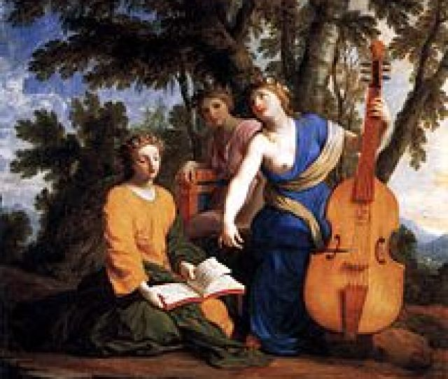 The Muses Melpomene Erato And Polyhymnia By Eustache Le Sueur