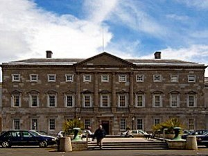 Leinster House, home of the Ireland's parliame...