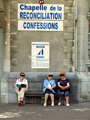 Lourdes confession