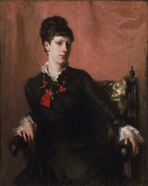 """Portrait of Frances Sherborne Ridley Watts"" by John Singer Sargent"