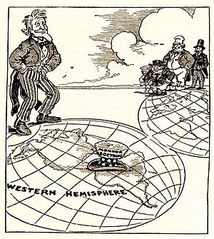 English: Newspaper cartoon from 1912 about the...