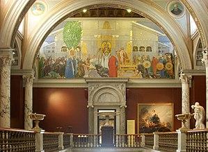 Trapphall i Nationalmuseum i Stockholm med &qu...