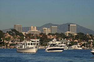 The Newport Center Skyline in Newport Beach, C...