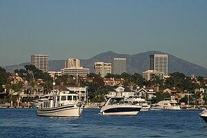 The Newport Center Skyline in Newport Beach, C...