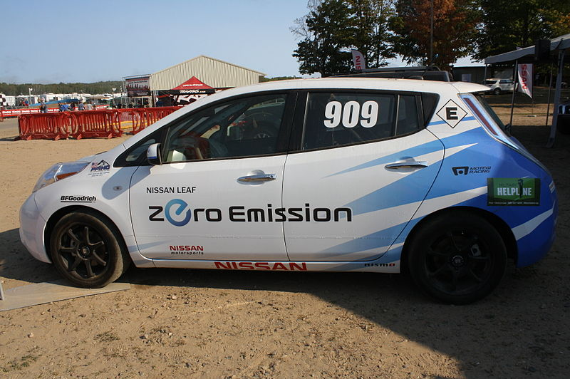 File:Nissan Leaf 2011 Pikes Peak Hillclimb Car for Chad Hord Electric Production Class Winner Photographed at Crandon 2012.jpg