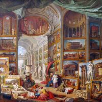Imaginary Gallery of Ancient Roman Art by Giovanni Paolo Panini