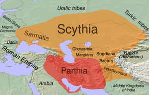 The approximate distribution of Eastern Irania...