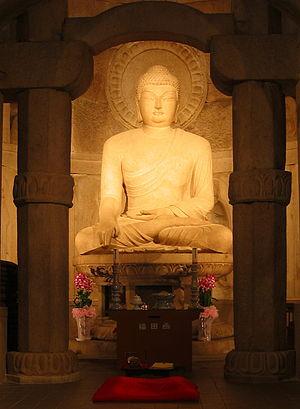 Buddha at Seokguram in South Korea, World Heri...