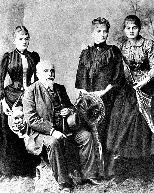 Sklodowski Family Wladyslaw and his daughters Maria Bronislawa Helena