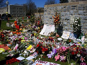 A memorial on the drillfield placed after the ...