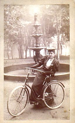 Woman with Bicycle 1890s